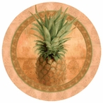 Pineapple Absorbent Round Beverage Coasters, Set of 12