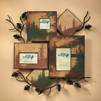 Pinecone Wall Collage Picture Frame