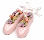 Pink Ballet Slippers Christmas Tree Ornaments, Set of 4