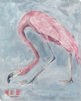 Pink Flamingo Bird Wrapped Canvas Giclee Print Wall Art