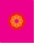 Pink Mod Flower Five Wrapped Canvas Giclee Print Wall Art