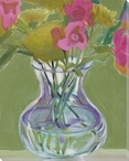 Pink Pansies Flowers II Wrapped Canvas Giclee Print Wall Art