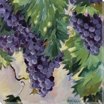 Pinot Grapes Wrapped Canvas Giclee Print Wall Art