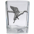 Pintail Duck Pewter Accent Shot Glasses, Set of 4
