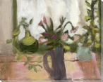 Pitcher of Flowers Wrapped Canvas Giclee Print Wall Art