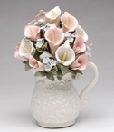 Pitcher with a Bouquet of Flowers Musical Music Box Sculpture