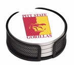 Pittsburgh State Gorillas Beverage Coasters with Holders, Set of 10