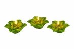 Poinsettia Flower Christmas Candle Floats Floating Candles, Set of 16