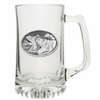 Polar Bears Glass Super Beer Mug with Pewter Accent
