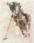 Polo Player Wrapped Canvas Giclee Print Wall Art