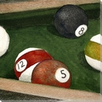 Pool Table Wrapped Canvas Giclee Print Wall Art