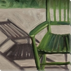 Porch Rocking Chair Wrapped Canvas Giclee Print Wall Art