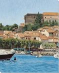 Port of Collioure Coast View Wrapped Canvas Giclee Art Print Wall Art