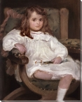 Portrait of a Little Girl Wrapped Canvas Giclee Print Wall Art