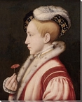 Portrait of Edward VI Wrapped Canvas Giclee Print Wall Art