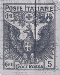 Poste Italiane Stamp Blue Wrapped Canvas Giclee Print Wall Art