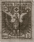 Poste Italiane Stamp Wrapped Canvas Giclee Print Wall Art