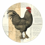 Poulet De Campagne Rooster Sandstone Coasters by P. Lapin, Set of 8