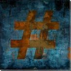 Pound Sign Symbol Wrapped Canvas Giclee Print Wall Art