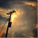 Power and Light Scenic Wrapped Canvas Giclee Print Wall Art