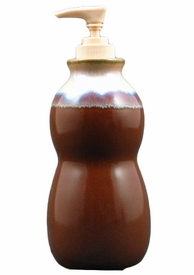 Prado Stoneware Soap Pump - Chocolate