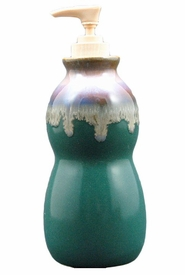 Prado Stoneware Soap Pump - Matte Green