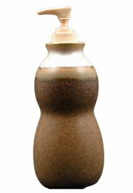 Prado Stoneware Soap Pump - Rustic Brown
