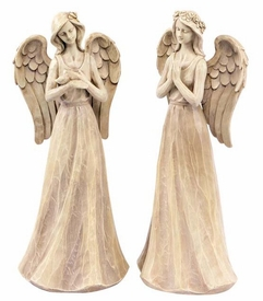 Praying Angel Sculptures, Set of 2