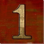 Press Number One Wrapped Canvas Giclee Print Wall Art