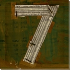 Press Number Seven Wrapped Canvas Giclee Print Wall Art