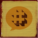 Press Pound Sign Symbol Wrapped Canvas Giclee Print Wall Art