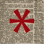 Press Star Asterisk Symbol Wrapped Canvas Giclee Print Wall Art