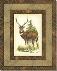 Printed Rustic Deer Wrapped Canvas Giclee Print Wall Art