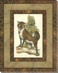 Printed Rustic Fox Wrapped Canvas Giclee Print Wall Art