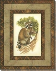 Printed Rustic Racoon Wrapped Canvas Giclee Print Wall Art