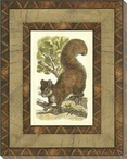 Printed Rustic Squirrel Wrapped Canvas Giclee Print Wall Art