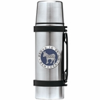 Proud To Be A Democrat Blue Stainless Steel Thermos with Pewter Accent