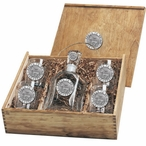 Proud To Be A Democrat Decanter & DOF Glasses Box Set with Pewter