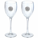 Proud To Be A Democrat Pewter Accent Wine Glass Goblets, Set of 2