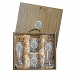 Proud To Be A Democrat Pilsner Glasses & Beer Mugs Box Set with Pewter