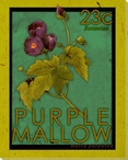 Purple Mallow Stamp Wrapped Canvas Giclee Print Wall Art
