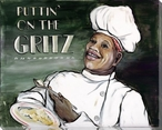 Puttin' on the Grits Chef Wrapped Canvas Giclee Print Wall Art