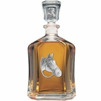 Quarter Horse Capitol Glass Decanter with Pewter Accents