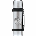 Quarter Horse Stainless Steel Thermos with Pewter Accent