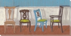 Quartet with Conversation Four Chairs Wrapped Canvas Giclee Art Print