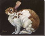 Queen Bunny Rabbit Wrapped Canvas Giclee Print Wall Art