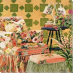 Quilt Behind Chair Wrapped Canvas Giclee Print Wall Art