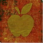 Qwerties Apple Wrapped Canvas Giclee Print Wall Art