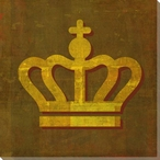 Qwerties Crown Wrapped Canvas Giclee Print Wall Art