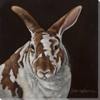 Rabbit Wrapped Canvas Giclee Print Wall Art
